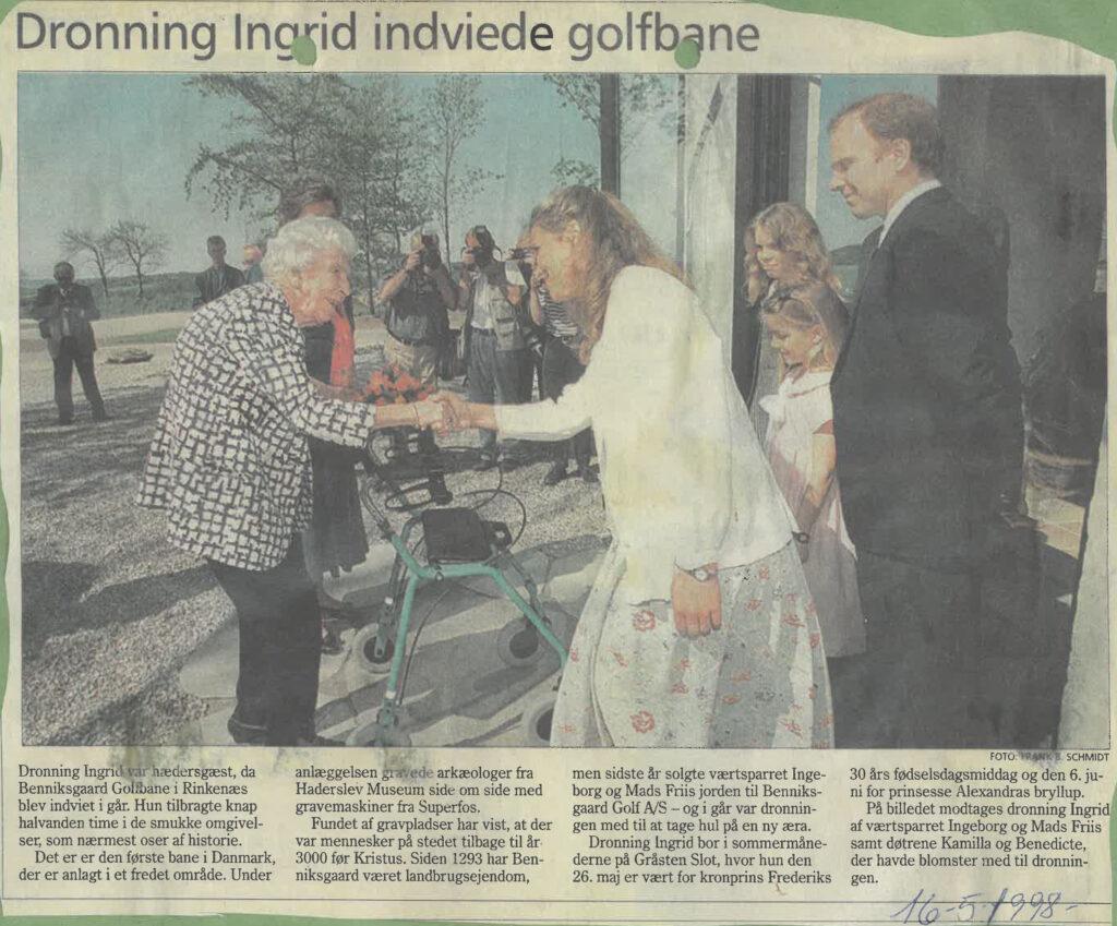 Historien om Benniksgaard Golf - indvielse af Dronning Ingrid